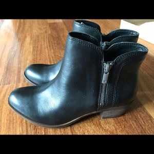Brand New Black Leather Lucky Brand Booties Size 6